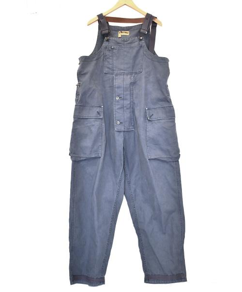 NIGEL CABOURN(ナイジェルケーボン)NIGEL CABOURN (ナイジェルケーボン) ライブロコットンオーバーオール ブルー サイズ:50 8037-13-50550の古着・服飾アイテム