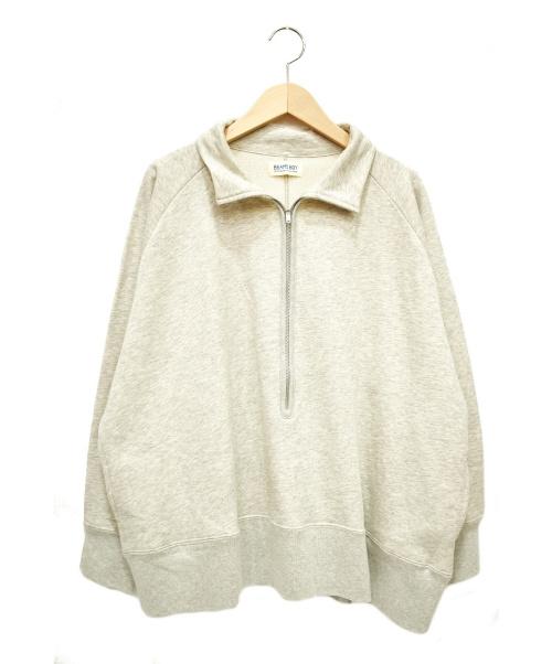BEAMS BOY(ビームス ボーイ)BEAMS BOY (ビームスボーイ) ハーフジップスウェット ライトグレー サイズ:下記参照の古着・服飾アイテム
