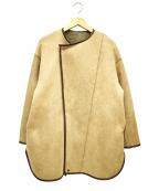LAGUNA MOON(ラグナムーン)の古着「ボアフェイクムートンリバーシブルコート」|ベージュ