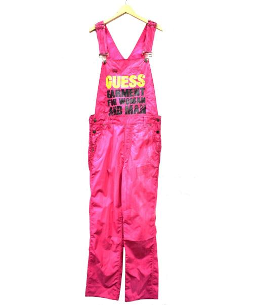 GUESS(ゲス)GUESS (ゲス) ナイロンオールインワン ピンク サイズ:UK32 Cali Nylon Overalls GO18C-SD09RB2R1の古着・服飾アイテム