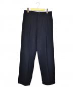 Y's for men(ワイズフォーメン)の古着「90sタックテーパードパンツ」|ネイビー