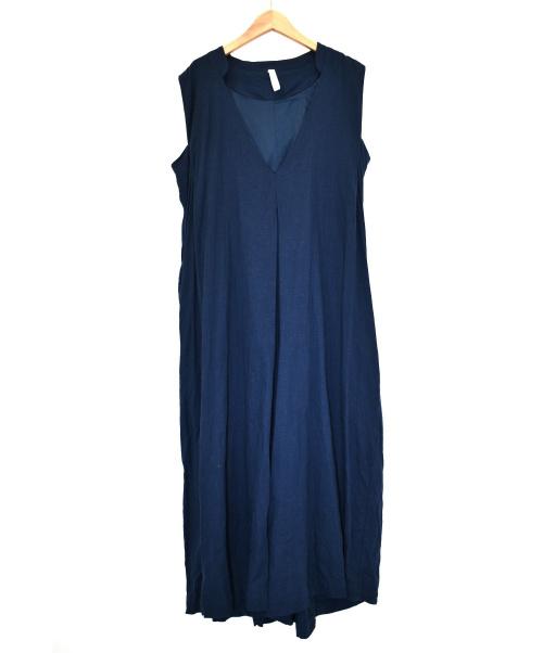 kelen(ケレン)kelen (ケレン) リネンストレッチクロスVネックジャンプスーツ ブルー サイズ:M LKL20SPT6の古着・服飾アイテム