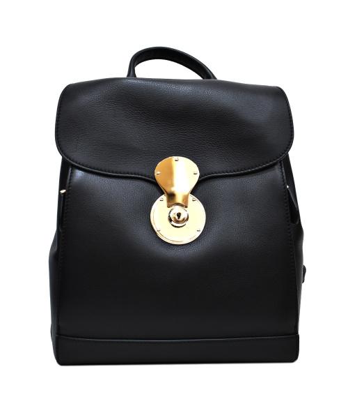 RALPH LAUREN(ラルフローレン)RALPH LAUREN (ラルフローレン) レザーリュック ブラック サイズ:下記参照 イタリア製の古着・服飾アイテム