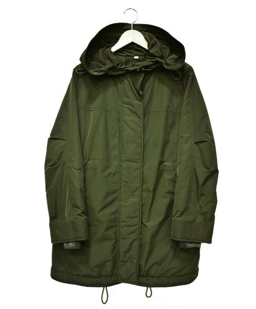 BURBERRY(バーバリー)BURBERRY (バーバリー) シェイプメモリータフタフーデットパーカ オリーブ サイズ:UK4 8006122 Shape-memory Taffeta Hooded Parkaの古着・服飾アイテム