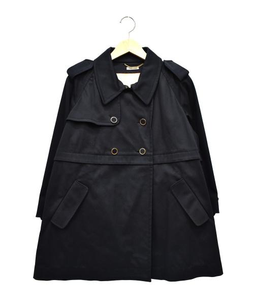 MIU MIU(ミュウミュウ)MIU MIU (ミュウミュウ) ダブルショートコート ネイビー サイズ:38の古着・服飾アイテム