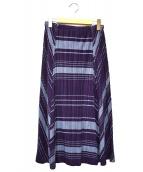 PLEATS PLEASE(プリーツプリーズ)の古着「プリーツスカート」|パープル