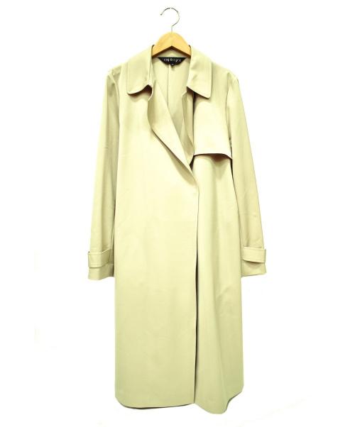 INDIVI(インディビ)INDIVI (インディヴィ) サッシュベルト付きプレーントレンチコート ベージュ サイズ:38の古着・服飾アイテム