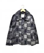 GRANDMA MAMA DAUGHTER(グランマママドーター)の古着「パッチワークデニムジャケット」|インディゴ