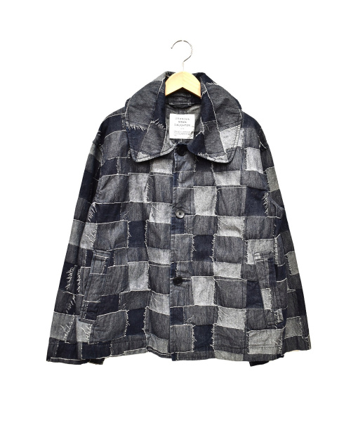 GRANDMA MAMA DAUGHTER(グランマママドーター)GRANDMA MAMA DAUGHTER (グランマママドーター) パッチワークデニムジャケット インディゴ サイズ:1の古着・服飾アイテム