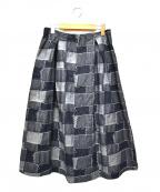 GRANDMA MAMA DAUGHTER(グランマママドーター)の古着「パッチワークデニムスカート」|インディゴ