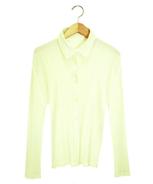 PLEATS PLEASE(プリーツプリーズ)PLEATS PLEASE (プリーツプリーズ) プリーツシャツ ホワイト サイズ:3 PP91-JJ491の古着・服飾アイテム