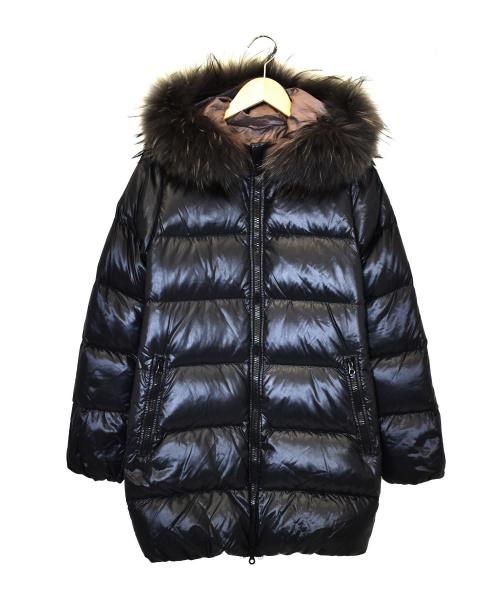 DUVETICA(デュベティカ)DUVETICA (デュベティカ) ファー付ダウンコート ブラック サイズ:38 MFG-1057Rの古着・服飾アイテム