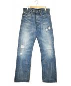 RRL(ダブルアールエル)の古着「リペアデニムパンツ」|インディゴ