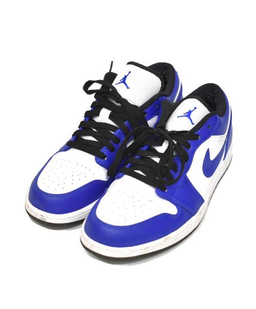NIKE(ナイキ)NIKE (ナイキ) エアジョーダン1ロウ ブルー サイズ:28cm AIR JORDAN1 LOW 553558-124 GAME ROYALの古着・服飾アイテム