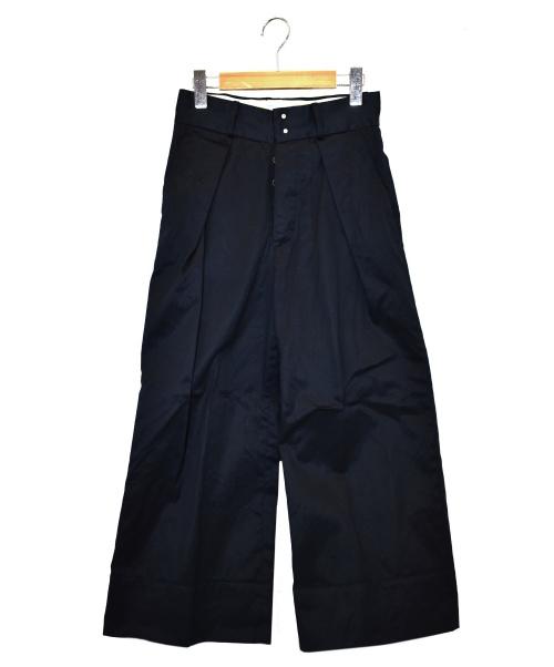 SOUMO(ソウモ)SOUMO (ソウモ) ビッグチノパンツ ネイビー サイズ:00 04-SP-003 2020年S/Sの古着・服飾アイテム