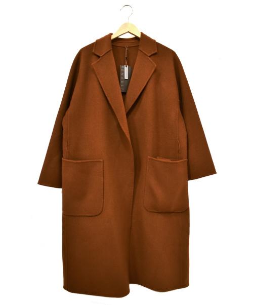RENAULT(ルノー)RENAULT (ルノー) ウールガウンコート ブラウン サイズ:9 未使用品 500330-1の古着・服飾アイテム