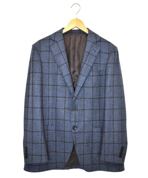 五大陸(ゴタイリク)五大陸 (ゴタイリク) ウールアンコンジャケット スカイブルー サイズ:38 109JA77Bの古着・服飾アイテム