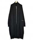 YohjiYamamoto pour homme()の古着「7Gシルバージッパーポケットビッグカーディガン」|ブラック