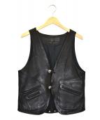CHROME HEARTS(クロムハーツ)の古着「クラシック2Bレザーベスト」|ブラック