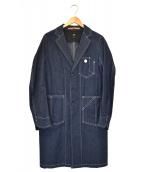 ()の古着「デニムショップコート」|ネイビー