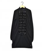 DIESEL()の古着「フリルブラウスワンピース」|ブラック