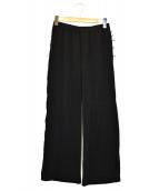 AP STUDIO(エーピーストゥディオ)の古着「サテンイ-ジーパンツ」|ブラック