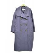 ENFOLD(エンフォルド)の古着「2WAYカラートレンチコート」 ブルー