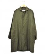 MARKA(マーカ)の古着「ステンカラーコート」|グリーン