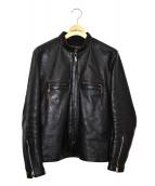 ()の古着「シングルレザーレザーライダースジャケット」|ブラック