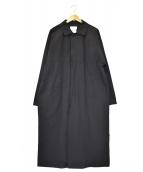 ()の古着「比翼レインコート」|ブラック