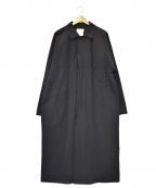 YAECA CONTEMPO(ヤエカ コンテンポ)の古着「比翼レインコート」|ブラック