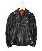 DIESEL(ディーゼル)の古着「レザーライダースジャケット」|ブラック