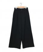 COMME des GARCONS(コムデギャルソン)の古着「2タックウールワイドパンツ」 ブラック