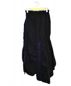 UN3D.(アンスリード)の古着「テープギャザースカート」|ブラック