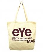 eYe COMME des GARCONS JUNYAWAT(コム デ ギャルソン ジュンヤ ワタナベ マン)の古着「プリントトートバッグ」 ベージュ