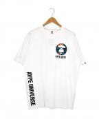 Aape BY A BATHING APE(エーエイプ バイ アベイシングエイプ)の古着「プリントTシャツ」|ホワイト