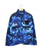 Aape BY A BATHING APE(エーエイプ バイ アベイシングエイプ)の古着「サルカモハーフジップジャケット」|ブルー