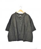 whowhat(フーワット)の古着「リネンブレンドビッグシャツ」|グレー