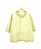 whowhat(フーワット)の古着「S/Sビッグシャツ」|ベージュ
