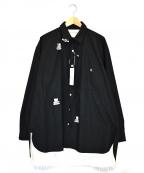 Children of the Discordance(チルドレン オブ ザ ディスコーダンス)の古着「オーバーサイズスタンプドシャツ」 ブラック