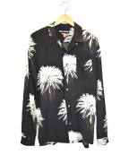DOUBLE RAINBOUU(ダブルレインボー)の古着「L/Sアロハシャツ」|グレー