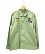 DOUBLE RAINBOUU(ダブルレインボー)の古着「L/Sシャツ」|グリーン
