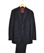 azabu tailor(アザブテーラー)の古着「ストライプセットアップスーツ」 ネイビー