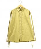 J.W. ANDERSON(ジェイダブリューアンダーソン)の古着「切替ロングスリーブシャツ」|ベージュ×ホワイト