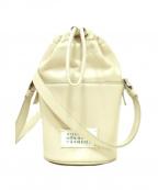Maison Margiela 11(メゾンマルジェラ 11)の古着「5ACマイクロバケットバッグ」|ホワイト