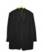 YOHJI YAMAMOTO COSTUME DHOMME(ヨウジヤマモトコスチュームドオム)の古着「ウールギャバ3Bジャケット」|ブラック