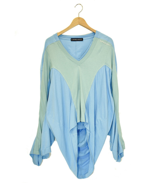 Y. PROJECT(ワイプロジェクト)Y. PROJECT (ワイプロジェクト) レイヤードカットソー ブルー サイズ:Sの古着・服飾アイテム