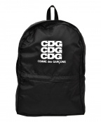 GOOD DESIGN SHOP COMME des GARCONS(グッドデザインショップ コムデギャルソン)の古着「CDGロゴナイロンバックパック」 ブラック