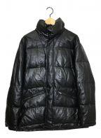 PAUL SMITH()の古着「ラムレザーダウンジャケット」|ブラック