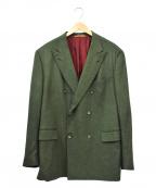 ISAIA(イザイア)の古着「ダブルテーラードジャケット」 グリーン